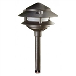 Dabmar LV102S-BZ Cast Aluminum Two Tier Pagoda Light Bronze