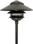"Dabmar LV103-B  Cast Aluminum Three Tier Pagoda Light with 0.50"" Base Black"