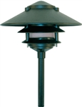 "Dabmar LV103-G Cast Aluminum Three Tier Pagoda Light with 0.50"" Base Green"