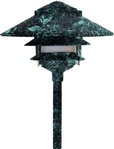 "Dabmar LV103-VG Cast Aluminum Three Tier Pagoda Light with 0.50"" Base Verde Green"