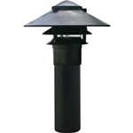"Dabmar LV104-G Cast Aluminum Three Tier Pagoda Light with 3.00"" Base Green"