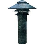 "Dabmar LV104-VG Cast Aluminum Three Tier Pagoda Light with 3.00"" Base Verde Green"