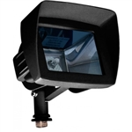 Dabmar LV105-HOOD-B Cast Aluminum Directional Area Flood Light with Hood Black