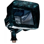 Dabmar LV105-HOOD-VG Cast Aluminum Directional Area Flood Light with Hood Verde Green