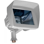 Dabmar LV105-HOOD-W Cast Aluminum Directional Area Flood Light with Hood White