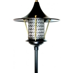 "Dabmar LV106A-B  Cast Aluminum Flair Top Pagoda Light with 0.50"" Base Black"