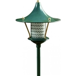 "Dabmar LV106A-G Cast Aluminum Flair Top Pagoda Light with 0.50"" Base Green"