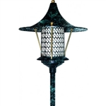 "Dabmar LV106A-VG Cast Aluminum Flair Top Pagoda Light with 0.50"" Base Verde Green"