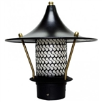 "Dabmar LV106B-B  Cast Aluminum Flair Top Pagoda Light with 3.00"" Base Black"