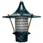 "Dabmar LV106B-VG  Cast Aluminum Flair Top Pagoda Light with 3.00"" Base Verde Green"