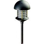 "Dabmar LV107A-B  Cast Aluminum Round Top Pagoda Light with 0.50"" Base Black"