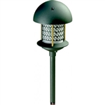 "Dabmar LV107A-G Cast Aluminum Round Top Pagoda Light with 0.50"" Base Green"