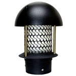"Dabmar LV107B-B  Cast Aluminum Round Top Pagoda Light with 3.00"" Base Black"