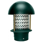 "Dabmar LV107B-G   Cast Aluminum Round Top Pagoda Light with 3.00"" Base Green"