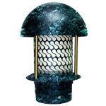 "Dabmar LV107B-VG  Cast Aluminum Round Top Pagoda Light with 3.00"" Base Verde Green"
