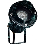 Dabmar LV109-VG Cast Aluminum Directional Spot Light with Hood Patina Green