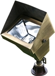 Dabmar LV117-ABS Solid Brass Area Flood Light with Hood Antique Brass