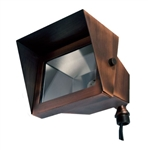 Dabmar LV117-ABZ Solid Brass Area Flood Light with Hood Antique Bronze