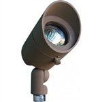 Dabmar LV130-BZ Cast Aluminum Directional Spot Light with Hood Bronze