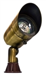 Dabmar LV131-ABS Solid Brass Directional Spot Light with Hood Antique Brass