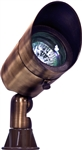 Dabmar LV131-ABZ Solid Brass Directional Spot Light with Hood Antique Bronze
