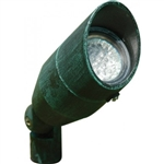 Dabmar LV190-VG Cast Aluminum Directional Spot Light with Hood Verde Green