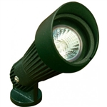 Dabmar LV203-G Cast Aluminum Directional Spot Light with Hood Green