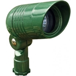 Dabmar LV222-G Cast Aluminum Directional Spot Light with Hood Green