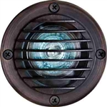 Dabmar LV24-WBS Solid Brass In-Ground Well Light with Grill Weathered Brass