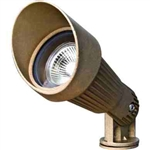 Dabmar LV26 Solid Brass Directional Spotlight with Hood Brass