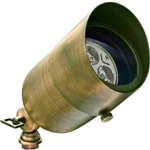 Dabmar LV29-HOOD-ABS Solid Brass Directional Spotlight with Hood Antique Brass