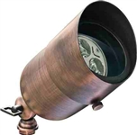 Dabmar LV29-HOOD-ABZ Solid Brass Directional Spotlight with Hood Antique Bronze