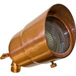 Dabmar LV29-HOOD-CP Solid Brass Directional Spotlight with Hood Copper