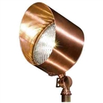 Dabmar LV30-CP Solid Brass Directional Flood Light with Hood Copper