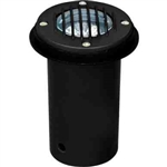 Dabmar LV300-B-SLV Cast Aluminum In-Ground Well Light with Grill Black