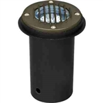 Dabmar LV300-BZ-SLV Cast Aluminum In-Ground Well Light with Grill Bronze
