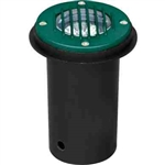 Dabmar LV300-G-SLV Cast Aluminum In-Ground Well Light with Grill Green