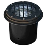 Dabmar LV305-B-SLV Cast Aluminum In-Ground Well Light with Grill Black