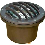 Dabmar LV305-BZ-SLV Cast Aluminum In-Ground Well Light with Grill Bronze