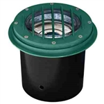 Dabmar LV305-G-MR Cast Aluminum In-Ground Well Light with Grill Green
