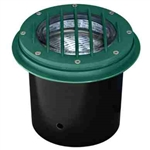 Dabmar LV305-G-SLV Cast Aluminum In-Ground Well Light with Grill Green