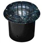 Dabmar LV305-VG-SLV Cast Aluminum In-Ground Well Light with Grill Verde Green