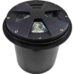 Dabmar LV307-B-SLV Cast Aluminum Drive Over In-Ground Well Light  Black