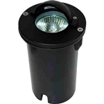 Dabmar LV625-B Cast Aluminum In-Ground Well Light with Eyelid Black