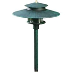 Dabmar LV70-PG Cast Aluminum Path-Walkway-Area Light Patina Green
