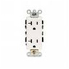 20A Decora Plus Duplex Receptacle Commercial Grade Self Grounding-White