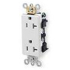 Leviton 20A Decora Plus Duplex Receptacle Commercial Grade-White