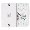 Telephone Wall Jack with Hanging Pins Type 630A 1 Modular 6P4C Jack-White