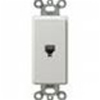 Leviton Decora Insert Flush Mount 6P4C Telephone Jack-White
