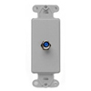Leviton Decora Insert Flush Mount CATV Video 1 F-Type Jack-Gray